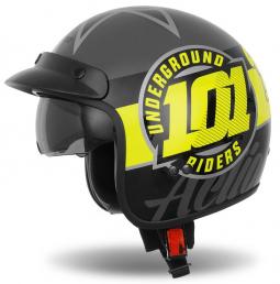 Moto přilba CASSIDA Oxygen 101 Riders černo-žlutá