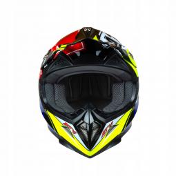 Dětská moto přilba HORN ATV Junior Quad červená-žlutá + brýle zdarma