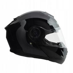 Moto přilba HORN Fli-Up černá + sluneční clona
