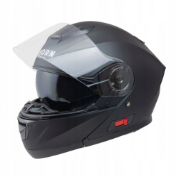Moto přilba HORN Fli-Up černá matná + sluneční clona