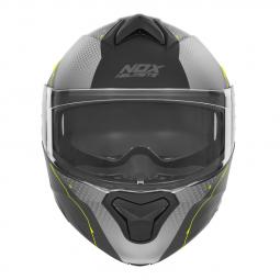 přilba N960 Shake, NOX (matná šedá, žlutá)